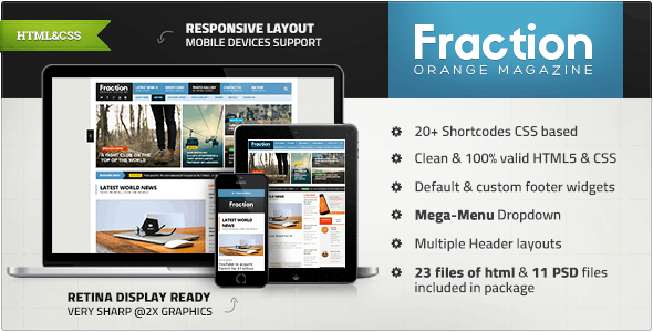 Fraction - Multipurpose News, Magazine HTML