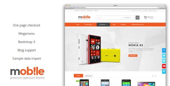 Mobile Opencart Theme - Technology OpenCart