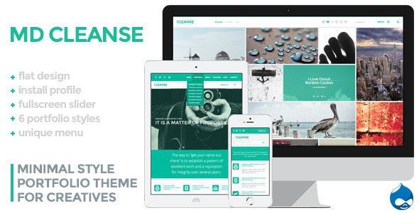 Cleanse - Minimal Style Drupal Portfolio Theme - Portfolio Creative