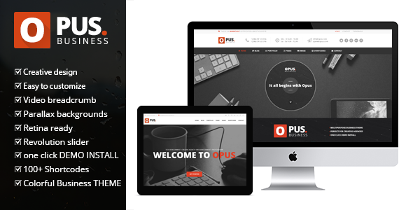 Opus Business - Multipurpose Business WordPress Theme - WooCommerce eCommerce