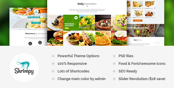Shrimpy - Responsive Restaurant Wordpress Theme - Food Retail