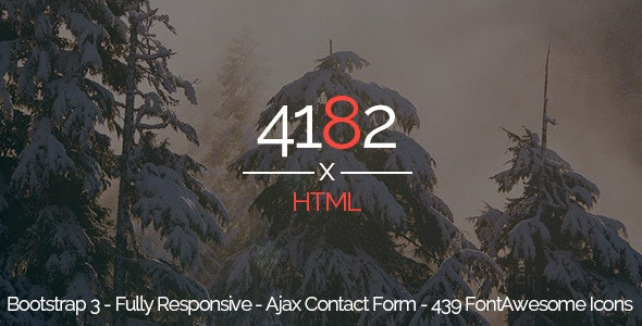 4182 - Responsive One Page HTML5 Template - Site Templates
