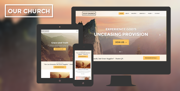 Church Responsive HTML5 Website Template - Churches Nonprofit