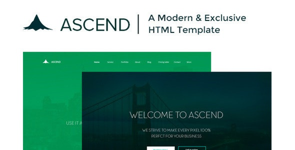 Ascend | Single Page HTML Template - Corporate Site Templates