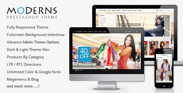 Moderns - Fullscreen Background PrestaShop Theme - PrestaShop eCommerce