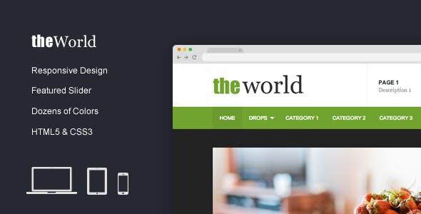 TheWorld - Fresh Magazine Template