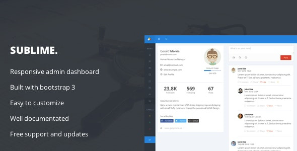 Sublime - Web Application Dashboard + Customizer Access - Admin Templates Site Templates