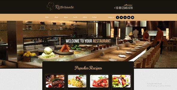Restaurant / Caffee / Bar / Pub Template - Landing Muse Templates