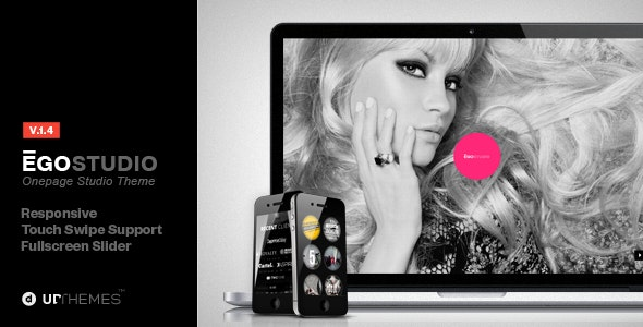 Ego Onepage Responsive Parallax Template - Creative Site Templates
