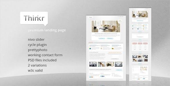 Thinkr Landing Page