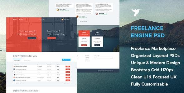 FreelanceEngine - Freelance Marketplace Template - Miscellaneous Photoshop