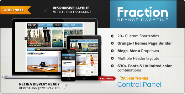 Fraction - Multipurpose News, Magazine Theme - Blog / Magazine WordPress