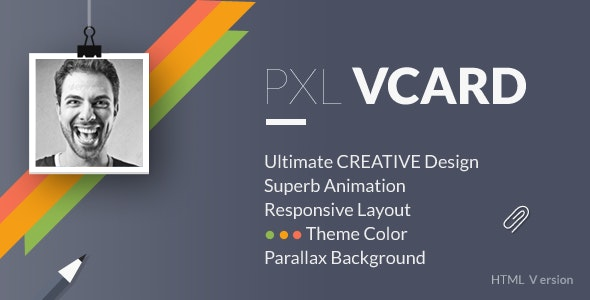 PXL VCARD - Super Cool Animated Responsive Design - Resume / CV Specialty Pages
