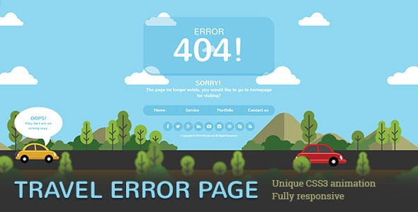 Travel Error Page