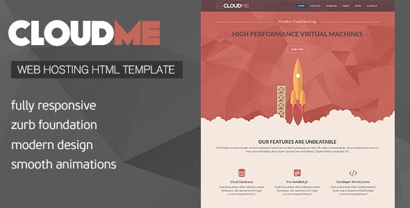 Cloud Me - Web Hosting, Responsive HTML Template