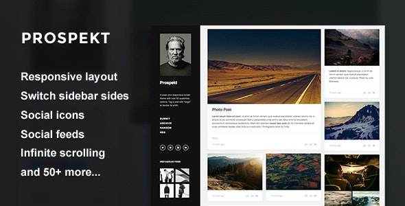 Prospekt - Responsive Sidebar Theme - Blog Tumblr