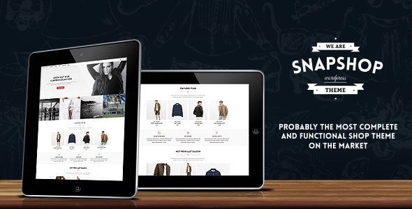 Snapshop - Responsive WooCommerce Wordpress Theme - Enhance Your Shop Website - WooCommerce eCommerce
