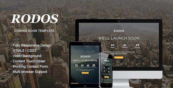 Rodos - Responsive Coming Soon Theme