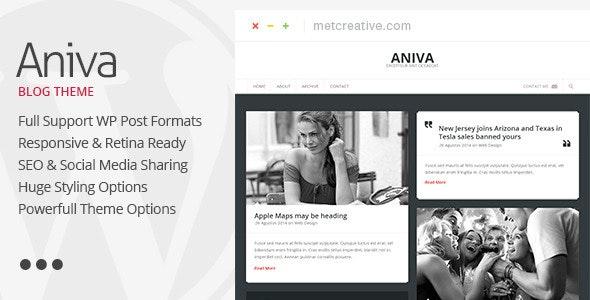 Aniva | Elegant Responsive WordPress Blog Theme - Personal Blog / Magazine