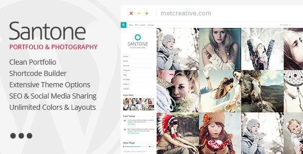 Santone - Clean Portfolio & Photography WP Theme - Portfolio Creative