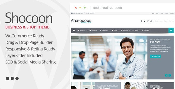 Shocoon - Responsive Business & Shop WP Theme - Corporate WordPress