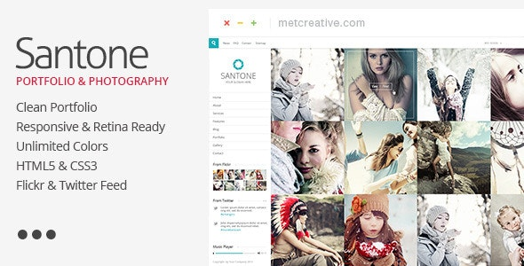 Santone - Clean Responsive Portfolio - Portfolio Creative