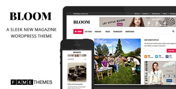 Bloom - Sleek New Magazine Theme - News / Editorial Blog / Magazine