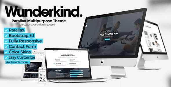 Wunderkind - One Page Parallax Joomla Template - Creative Joomla