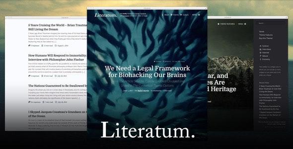Literatum - Just Write - Blog / Magazine WordPress