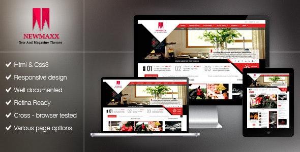 new maxx html5 magazine web template by kopasoft themeforest. Black Bedroom Furniture Sets. Home Design Ideas
