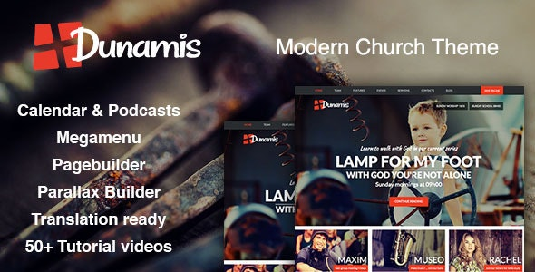 Dunamis - Modern Church theme - Churches Nonprofit