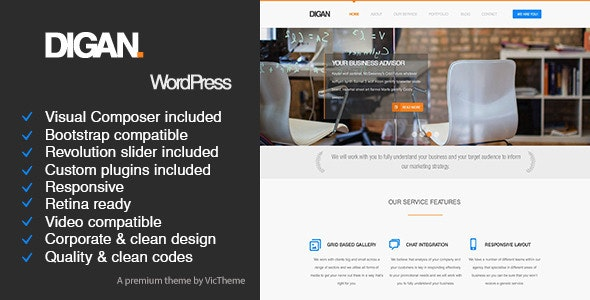 Digan Multipurpose WordPress Business Theme - Business Corporate