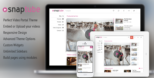 Snaptube - Premium Video WordPress Theme - Blog / Magazine WordPress