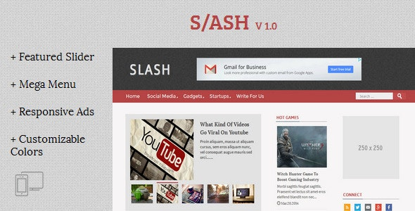 Slash - Tech/Magazine Blogger Template by TemplatesZoo | ThemeForest