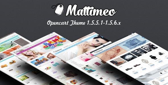 Mattimeo – Responsive OpenCart Theme - Shopping OpenCart