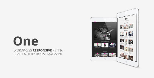 One, Multipurpose Responsive Wordpress Magazine - News / Editorial Blog / Magazine
