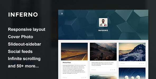 Inferno - Responsive Header Theme by thejenyuan | ThemeForest