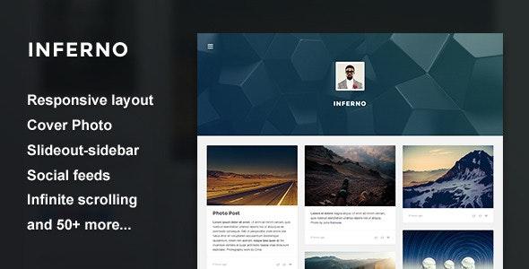 Inferno - Responsive Header Theme - Blog Tumblr