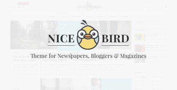 Nice Bird | Blog and Newspaper PSD Theme - Creative PSD Templates