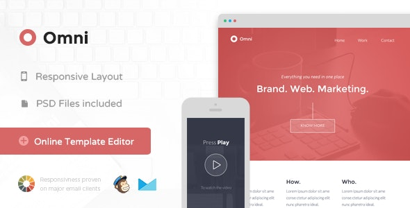 Omni - Responsive Email + Themebuilder Access - Newsletters Email Templates