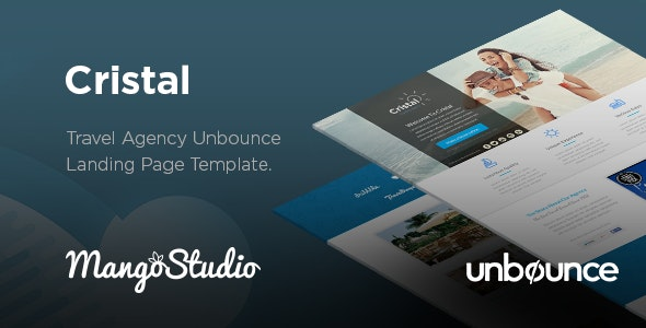Cristal - Travel Agency Unbounce Template - Unbounce Landing Pages Marketing