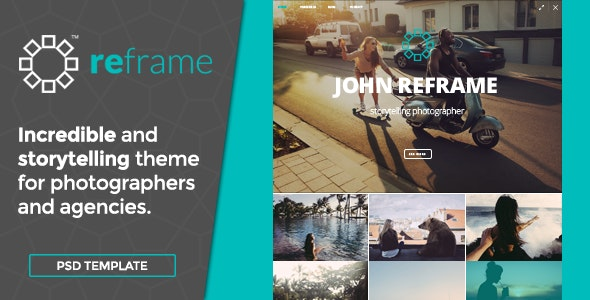 ReFrame Photo - Photography PSD Template - Photography Creative