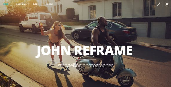 ReFrame Photo - Photography PSD Template