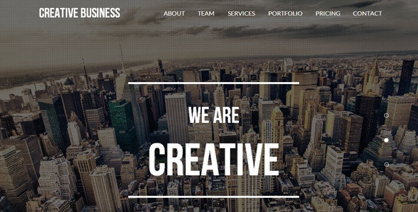 Creative Business - One Page Parallax Template - Creative Muse Templates