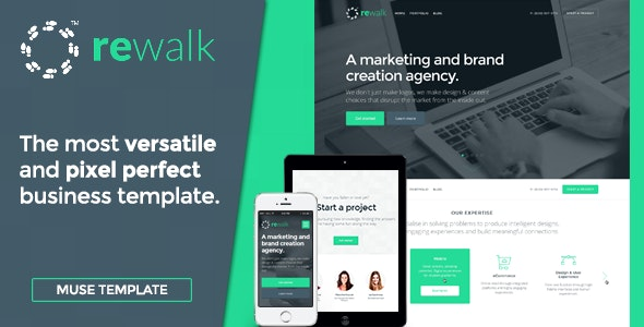 ReWalk - Business Adobe Muse Template - Corporate Muse Templates