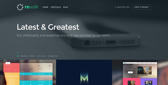 ReWalk - Business Adobe Muse Template