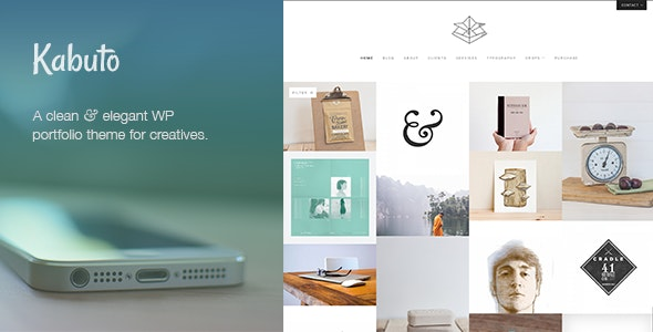 Kabuto: a clean, minimal & responsive WordPress creative theme with a fullscreen portfolio grid - Portfolio Creative