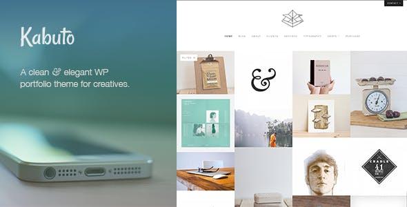 Kabuto: a clean, minimal & responsive WordPress creative theme with a fullscreen portfolio grid