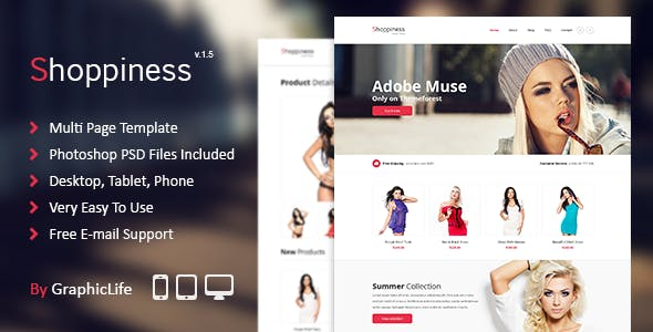 Download Shoppiness - eCommerce Muse Template