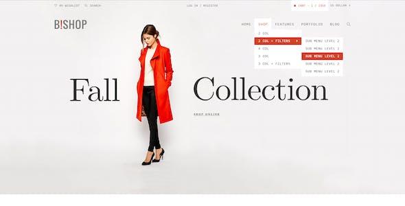 B!shop - E-Commerce and Blog PSD Theme
